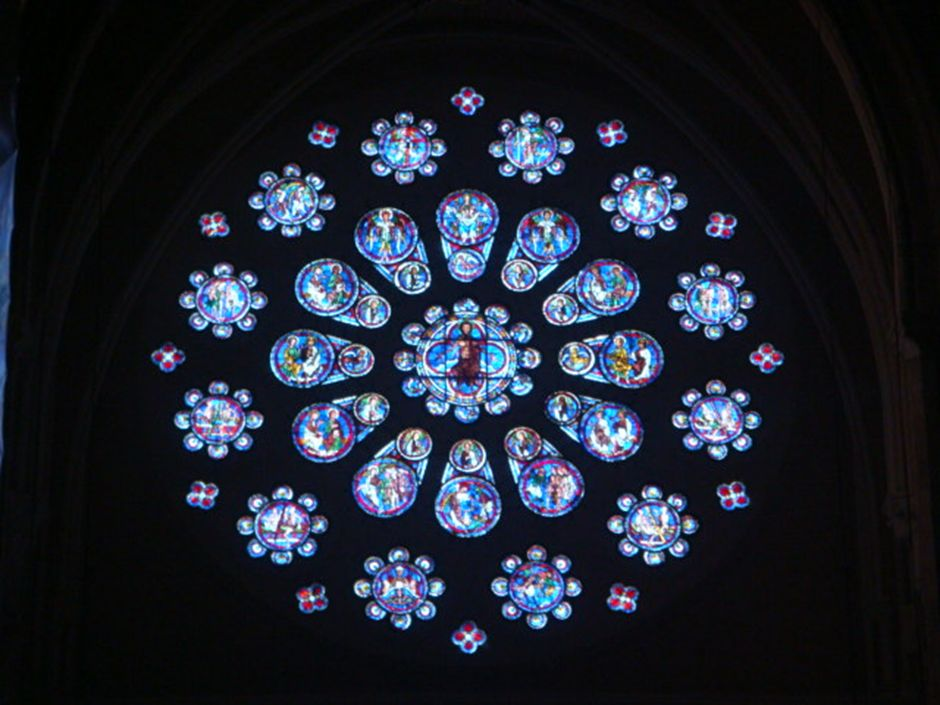 chartres stained window