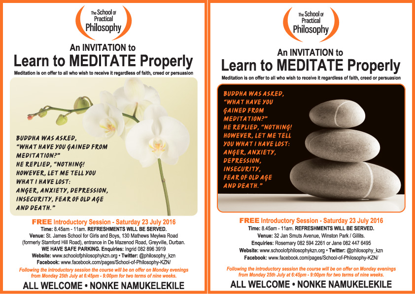MEDITATION LEAFLETS JULY