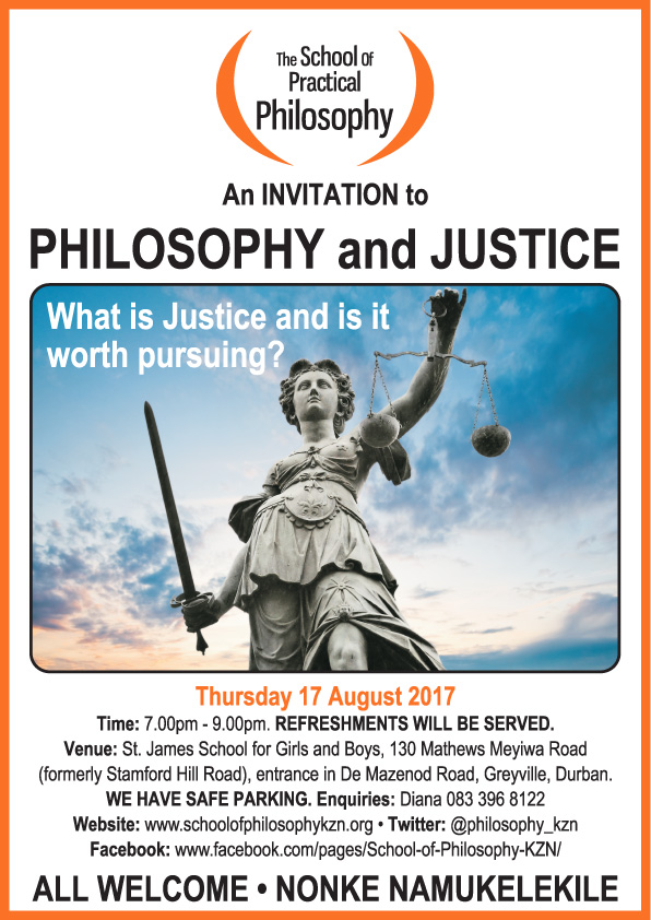 Public Talk: Philosophy and Justice