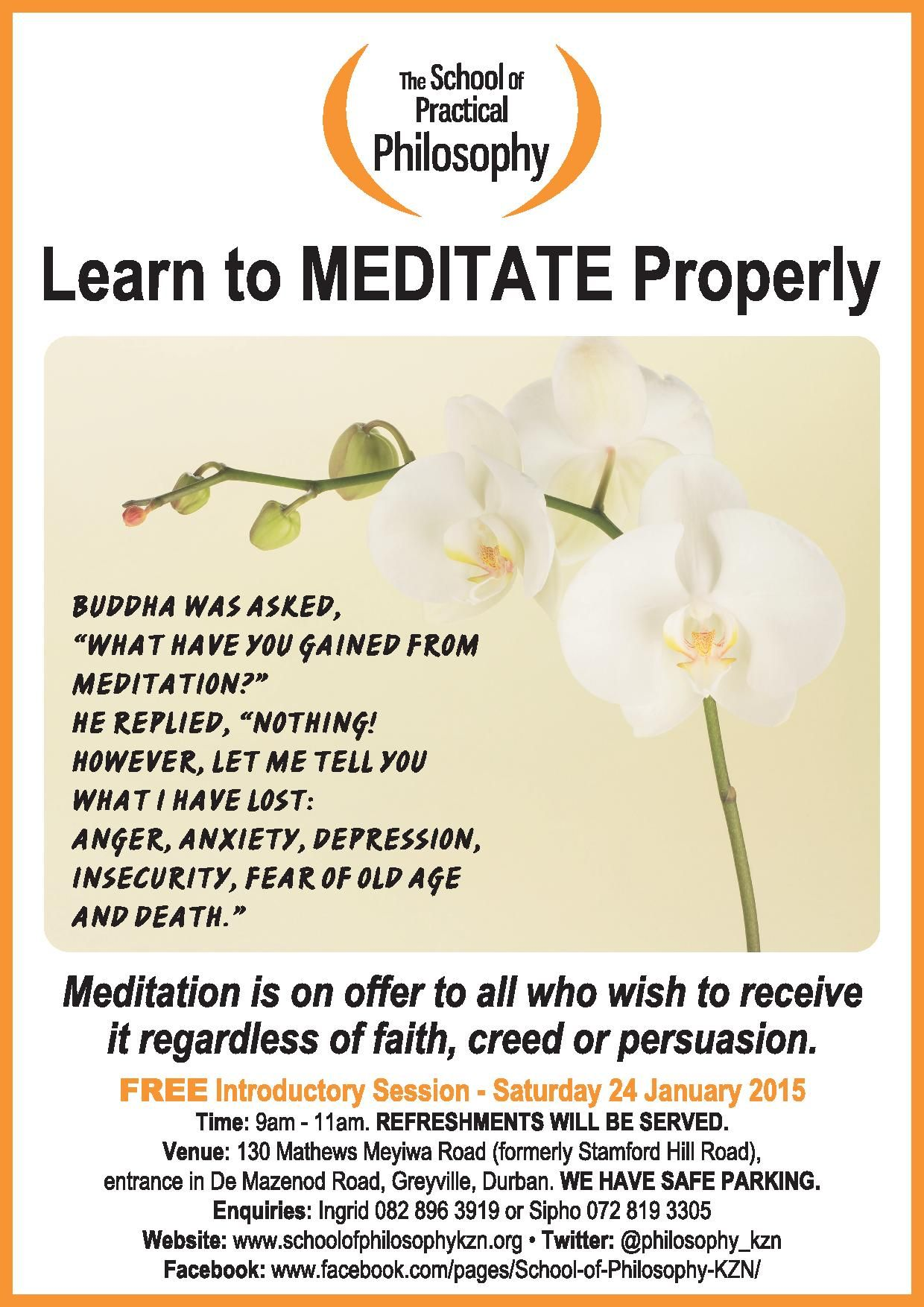 Mediatation Course Starts 24 January 2015 - All Welcome ...